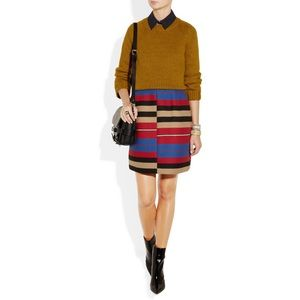 Carven striped multicoloured statement skirt